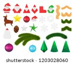 christmas decorations and... | Shutterstock .eps vector #1203028060