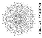 coloring book page. vintage... | Shutterstock .eps vector #1203030220