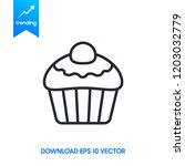 confectionery line icon  cupcake | Shutterstock .eps vector #1203032779