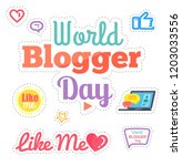 world blogger day  like me...   Shutterstock .eps vector #1203033556
