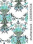 seamless watercolor pattern in... | Shutterstock . vector #1203034216