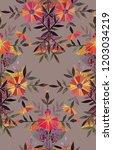seamless watercolor pattern in... | Shutterstock . vector #1203034219