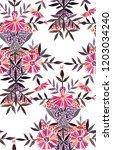 seamless watercolor pattern in... | Shutterstock . vector #1203034240