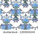 seamless watercolor pattern in... | Shutterstock . vector #1203034243