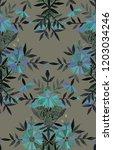 seamless watercolor pattern in... | Shutterstock . vector #1203034246