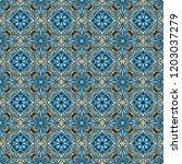 portuguese azulejo ceramic tile ... | Shutterstock .eps vector #1203037279