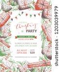 vector merry christmas... | Shutterstock .eps vector #1203039979