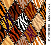 abstract exotic pattern in... | Shutterstock .eps vector #1203041473