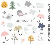Set Of Autumn Elements For...