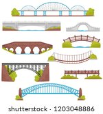 flat vector set of brick  iron  ... | Shutterstock .eps vector #1203048886
