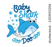 baby shark   t shirts  hoodie ... | Shutterstock .eps vector #1203053206