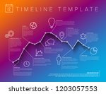 vector infographic timeline... | Shutterstock .eps vector #1203057553