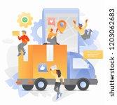vector illustration of online...   Shutterstock .eps vector #1203062683