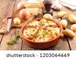 potato  bacon and cheese | Shutterstock . vector #1203064669