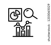 vector icon for analytics  | Shutterstock .eps vector #1203065029