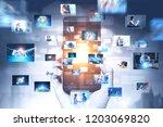 hand of businessman holding...   Shutterstock . vector #1203069820
