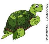 turtle. vector illustration of...   Shutterstock .eps vector #1203070429