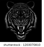 the vector logo tiger for t...