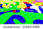 abstract multicolored three... | Shutterstock . vector #1203071980