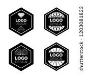 vector logo design elements set ... | Shutterstock .eps vector #1203081823