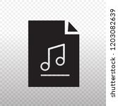 solid icon black files music... | Shutterstock .eps vector #1203082639