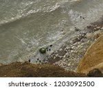 seaford chalk cliffs  | Shutterstock . vector #1203092500