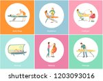 tanning spa salon and body wrap ... | Shutterstock .eps vector #1203093016