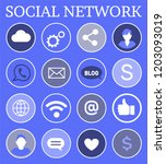 social network  poster with... | Shutterstock .eps vector #1203093019
