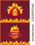 best offer hot sale badge with... | Shutterstock .eps vector #1203093160