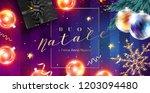 buon natale e felice anno nuovo ... | Shutterstock .eps vector #1203094480