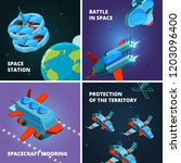 space travel discovery.... | Shutterstock .eps vector #1203096400
