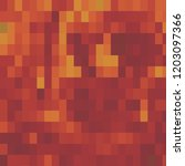 red and orange mosaic tile... | Shutterstock . vector #1203097366
