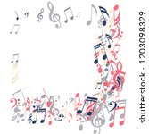 square frame of musical notes....   Shutterstock .eps vector #1203098329