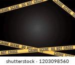 crime scene do not cross vector | Shutterstock .eps vector #1203098560