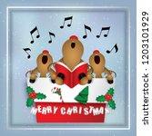Cartoon Icon   Deer Singing...