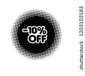 10  off sale discount banner... | Shutterstock .eps vector #1203103183