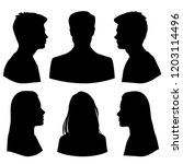set silhouettes of men and... | Shutterstock .eps vector #1203114496