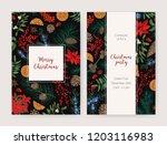 bundle of christmas flyer  card ... | Shutterstock .eps vector #1203116983