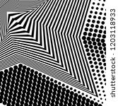 abstract black and white... | Shutterstock .eps vector #1203118933