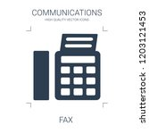 fax icon. high quality filled... | Shutterstock .eps vector #1203121453
