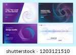 set of web page design... | Shutterstock .eps vector #1203121510