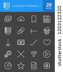 computer   hardware inverted... | Shutterstock .eps vector #1203122320