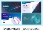 set of web page design... | Shutterstock .eps vector #1203122353