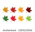 maple leaves logo and symbol | Shutterstock .eps vector #1203122563