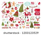 set of christmas elements.... | Shutterstock .eps vector #1203123529
