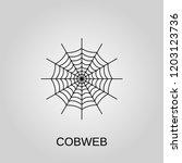 cobweb icon. cobweb symbol.... | Shutterstock .eps vector #1203123736