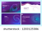 set of web page design... | Shutterstock .eps vector #1203125386