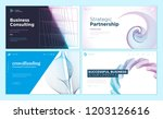 set of web page design... | Shutterstock .eps vector #1203126616