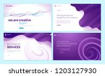 set of web page design... | Shutterstock .eps vector #1203127930