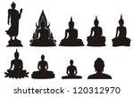 Silhouette Of  Thai Buddha